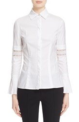 Women's Yigal Azrou L Lace Inset Bell Sleeve Blouse