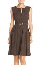Women's Ellen Tracy 'Kenya' Fit And Flare Dress