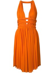 Jay Ahr V Neck Sleeveless Short Dress Yellow And Orange