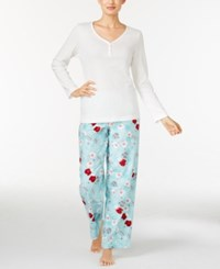 Charter Club Henley Top And Printed Flannel Pants Pajama Set Only At Macy's Iovry Winter Mittens