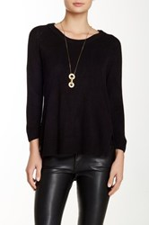 Sweet Romeo Raglan Sweater Black