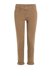 Brunello Cucinelli Cotton Twill Cropped Jeans Brown