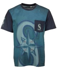Forever Collectibles Men's Seattle Mariners Pocket Sublimated T Shirt Teal Navy