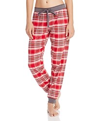 Pj Salvage Mountains Calling Flannel Pants Brick