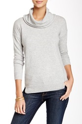 Kier And J Cowl Neck Cashmere Sweater Gray