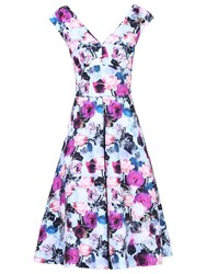 Jolie Moi Sweetheart Neckline Fit And Flare Dress Purple