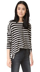 The Great Sailor Top Black And White Stripe
