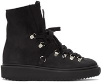 Kenzo Black Nubuck Ankle Boots