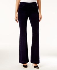 Inc International Concepts Corduroy Flare Leg Pants Only At Macy's Vibrant Navy