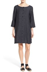 Women's Eileen Fisher Organic Linen Bateau Neck Shift Dress