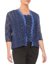 Alex Evenings Plus Sequin Cardigan Set