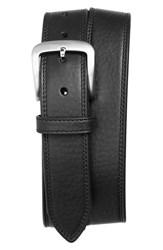 Men's Shinola Double Stitch Leather Belt Black