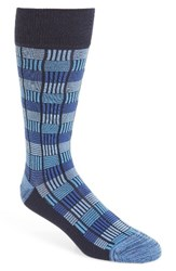 Calibrate Men's Box Texture Socks Navy Combo