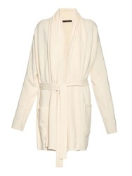Denis Colomb Ribbed Knit Cashmere Cardigan