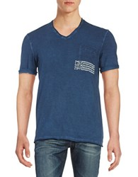 Buffalo David Bitton Short Sleeved V Neck Tee Blue