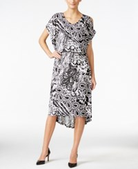Jm Collection Cold Shoulder Printed Dress Only At Macy's Floral Paisley