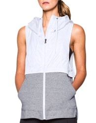 Under Armour Hooded Soft Terry Vest White