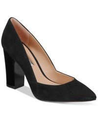 Inc International Concepts Women's Eloraa Block Heel Pumps Only At Macy's Women's Shoes Black