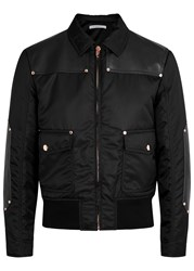 Givenchy Black Shell And Leather Jacket