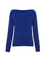 Mela Loves London Cobalt Furry Jumper Blue