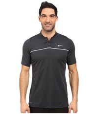 Nike Tiger Woods Vl Max Swing Knit Stripe Black White Black Reflective Silver Men's Short Sleeve Pullover