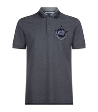 Givenchy Screaming Monkey Badge Polo Shirt Male Dark Grey