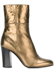 Michel Vivien Zip Up Booties Metallic