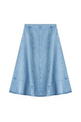 Michael Kors Collection Denim Skirt Blue