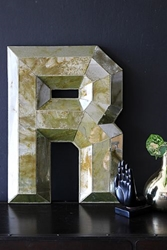 Aged Mirror Letter R