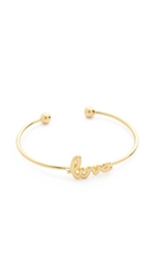 Sarah Chloe Love Bangle Bracelet Gold