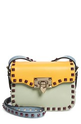 Valentino 'Mini Rockstud' Colorblock Leather Crossbody
