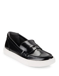 Kenneth Cole Kacey Patent Leather Loafers Black