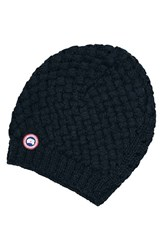 Canada Goose Women's Slouchy Basketweave Beanie Blue Ink Blue