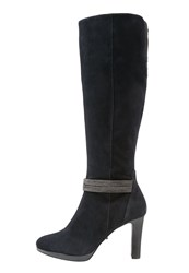 Belmondo High Heeled Boots Marino Dark Blue