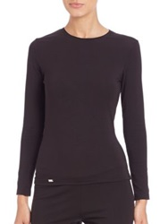 La Perla New Project Long Sleeve Tee White Black