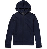 Club Monaco Wool Zip Up Hoodie Navy