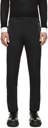 Acne Studios Black Fleece Lined Roland Pants