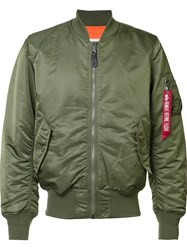 Alpha Industries 'Ma 1 Blood Chit' Bomber Green