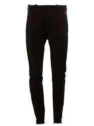 Masnada Seam Detail Skinny Trousers Black