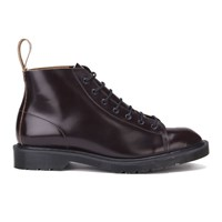 Dr. Martens Men's 'Made In England' Core Les Lace To Toe Leather Boots Merlot Boanil Brush Red