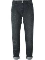 Stella Mccartney Star Accent Straight Fit Jeans Grey