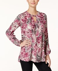 Styleandco. Style Co. Paisley Print Keyhole Top Only At Macy's Magenta