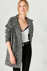 Silence And Noise Fabienne Boucle Poncho Coat Light Grey