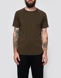 Reigning Champ Ss Raglan Tee In Olive