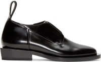 Paco Rabanne Black Leather Laceless Derbys