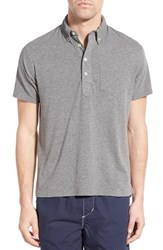 Men's Relwen 'Lake Superior' Pima Cotton Polo Grey Heather