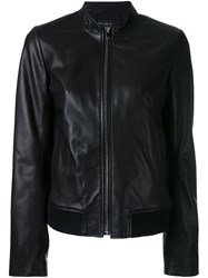 Joseph Ribbed Hem Zipped Jacket Black