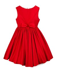 Helena Sleeveless Taffeta Party Dress Red