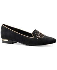 Isola Risa Pointy Toe Flats Women's Shoes Black