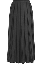 Golden Goose Pleated Wool Blend Midi Skirt Anthracite